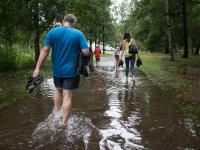 В Великом Новгороде в ночь на воскресенье выпало 116 мм осадков