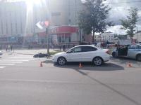 В центре города на переходе сбили девушку