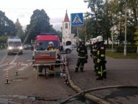 Более 30 человек участвовали в тушении пожара на Торговой стороне